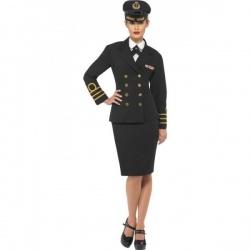 Elegantní kostým námořní důstojnice