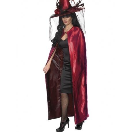 Čarodějnický plášť deluxe rubínový