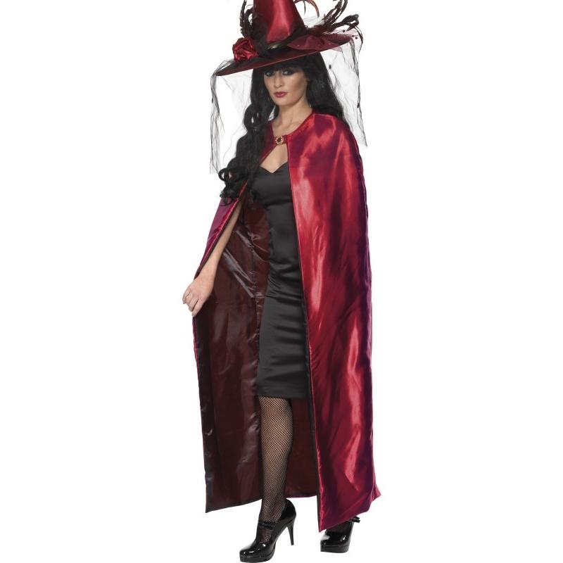 a2daec05623 Čarodějnický plášť deluxe rubínový