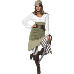 Kostým Pirátka - zelená