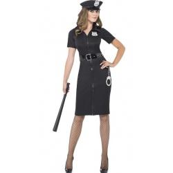 Sexy policistka černá - dlouhá
