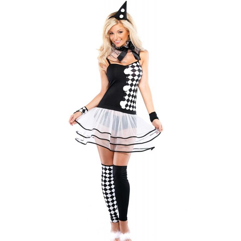 Dámský kostým Pierot - půjčovna kostýmů pro upíry 3dee575ca9