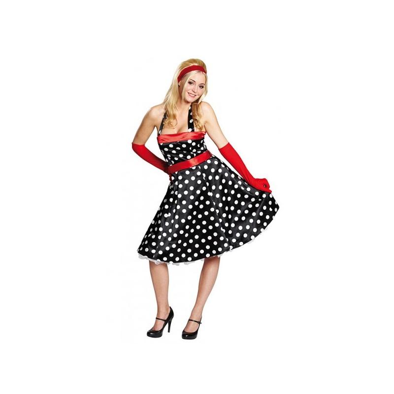 7843b1fbc21f Retro šaty 50tá léta - půjčovna maškarních kostýmů Praha