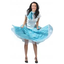 Sukně s puntíky - modrá