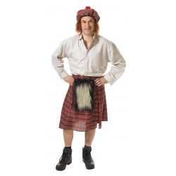 Skotský kilt a čepice