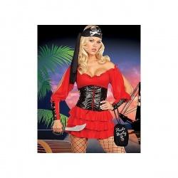 Kostým červená pirátka