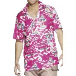 Kostým - Košile hawai ružová