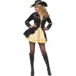 Kostým - zlatočerná Pirátka