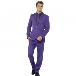 Kostým pána ve fialovém obleku