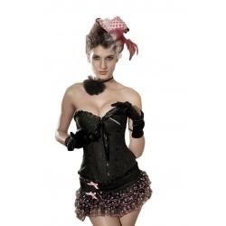 Korzet burlesque černý