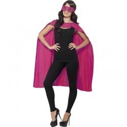 Plášť s maskou superhrdiny - Růžový