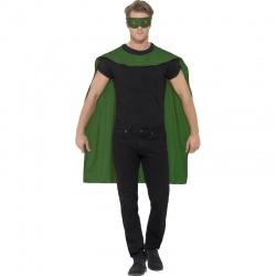 Plášť s maskou superhrdiny - Zelený