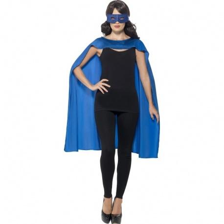 Plášť s maskou superhrdiny - Modrý