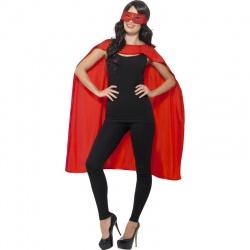Plášť s maskou superhrdiny - Červený