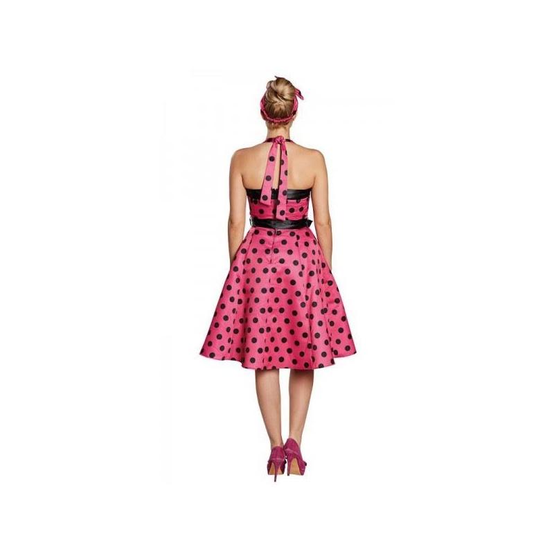 76b408aa6387 Retro šaty 50tá léta - růžové