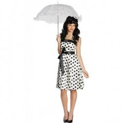 Retro šaty 50tá léta - bílé