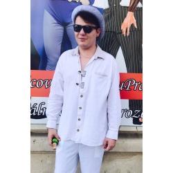 Bílá bavorská košile