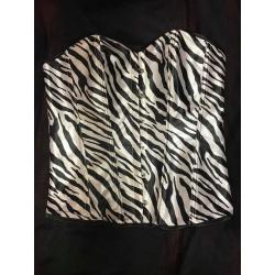 Korzet ala zebra