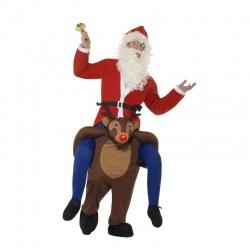 Kostým Santa Clause na sobovi