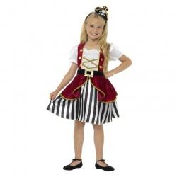 Kostým pirátky - dětský deluxe