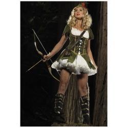 Halloweenský Robin Hood dámský kostým