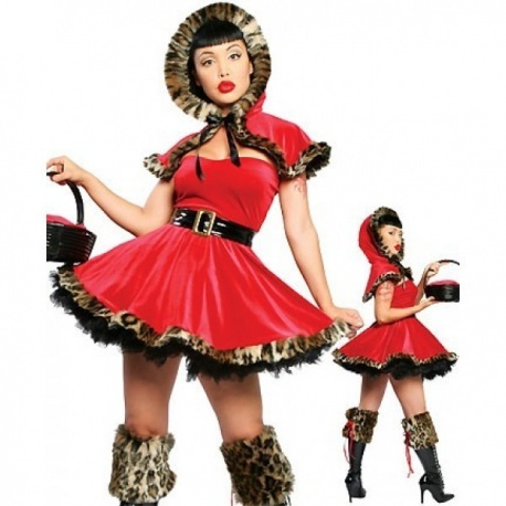 Halloweenský Kostým Červené Karkulky pro dospělé
